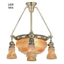 Edwardian Light Fixtures Antique Chandelier Edwardian Puffy Style Ceiling Bowl Light