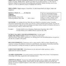 Objective For Teaching Resume Sample Objectives In Resume For Teachers Best Of Teaching 91