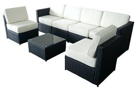 Patio Furniture Set Deals 7 Piece Black Wicker Sectional Outdoor