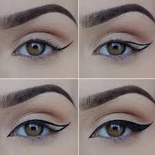 3 steps to do cat eye makeup