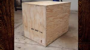 homemade diy plywood plyometrics box