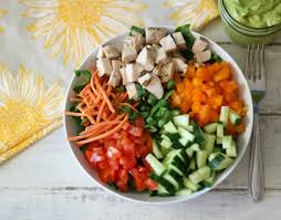 garden salad with chicken.  With I Love These Kind Of Salads Just A Perfect Simple Light Meal That Can Be  Put Together In Matter Minutes Chopped Chicken Garden  Throughout Salad With