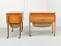 Side Table Scandinavian Design Mid Century Scandinavian Design Movable Sewing Side Tables 1960s