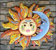 sun moon metal wall art pool decor