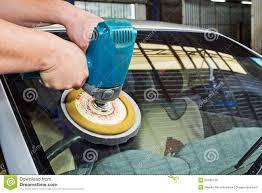 car buffing machine. royalty-free stock photo. download car glass polishing with power buffer machine buffing