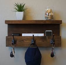 Coat Rack Mail Organizer Modern Rustic Entryway Coat Rack Shelf And Mail Phone Key Organizer 7