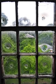 bullseye window panes used in an english country house