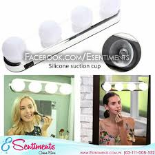 4 bulb hollywood led makeup mirror