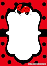 Ladybug Invitations Template Free Free Printable Ladybug Baby Shower Invitations Templates