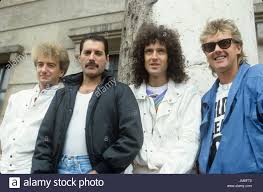 L-r: John Deacon, Freddie Mercury, Brian May and Roger Taylor of ...