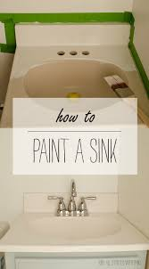 Painted Bathroom Countertops How To Paint A Sink Sinks