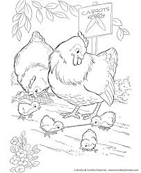 Small Picture Farm Animal Coloring Pages Printable Chickens Coloring Page and