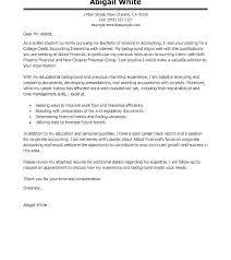 Cover Letters For Internships Cover Letter Finance Cover Letter For