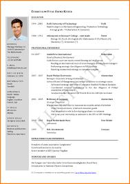 Cv Format For Job Application Resume Example Smart Screenshoot