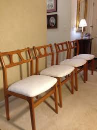 mid century modern dining room chairs reupholstered midcentury dining room