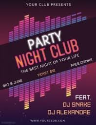 Part Flyer Customize Amazing Party Flyers In Minutes Postermywall