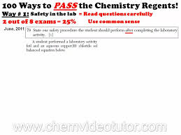 chemistry articles way 1 on how to pass the chemistry regents