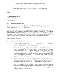 job termination letters employment termination letter with settlement proposal