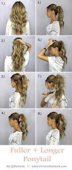 fuller and longer ponytail