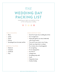 Checklist For Wedding Day Expert Advice Downloadable Wedding Packing List Sound Advice