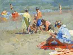 kevin macpherson beach scene by kevin macpherson oil painting