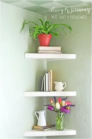 White Plastic Floating Shelves