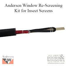 andersen window frenchwood gliding patio screen door rescreening kit insect screen