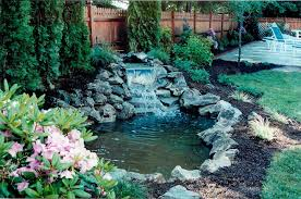 backyard ponds and waterfalls. Perfect Waterfalls Backyard Ponds Waterfalls U0026 Poolscapes In Long Island Throughout Ponds And