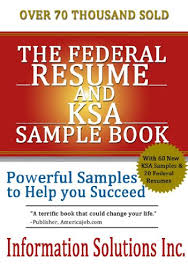 Sample Federal Resume Ksa The Federal Resume And Ksa Sample Book