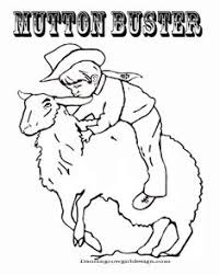 Small Picture Cowboy on Bucking Bull line art Color HorsesRodeo Pinterest