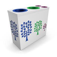 Designer Trash Receptacles Pandora Enterprise White Trash Can Design With 2