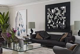 living room white room furniture decorative gold finishes wall art mirrored metal black painted wood