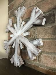 large wooden snowflake s wood