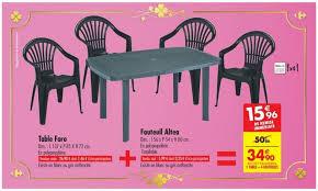 Carrefour : ensemble de jardin 1 table + 4 fauteuils à 34,90 €