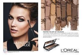 karlie kloss models neutral makeup hues in l oreal paris la palette