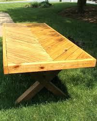 diy picnic table herringbone picnic table build diy kitchen picnic table