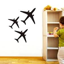 vintage airplane wall decals gutesleben kids room compare sticker low stickers aircraft silhouette removable art vinyl