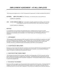 Employee Agreement Sample - Kleo.beachfix.co