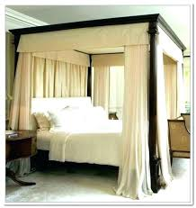 Four Poster Bed Canopy Curtains With Drapes Unbelievable For Walmart