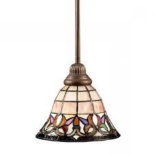 tiffany pendant lights nz. fantastic shop portfolio flora 85 in mission bronze tiffany style mini pendant lights nz g