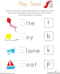 Find Missing Letters | Worksheet | Education.comKindergarten Phonics Letters Worksheets: Find Missing Letters. Download Worksheet
