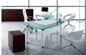 glass office furniture amazing modern executive glass desk for office furniture