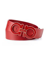 Mens Red Designer Belts Salvatore Ferragamo Mens Large Enamel Gancini Buckle Belt