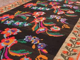 black and pink kilim rug 833