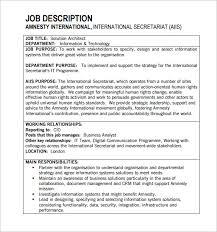 Architect Job Description Template 10 Free Word Pdf Format
