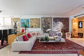 ... Living room, Rals Living Room Features A Huge Wall Of Artwork As Well  ...