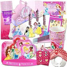 Disney Princess Party Supplies Ultimate Set (150 Pieces) -- Favors, Birthday Decorations, Plates, Cups, Napkins, Table Cover and More!