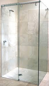 corner slider frameless shower screen