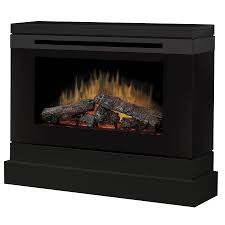 black wood fan forced electric fireplace with thermostat with remote control
