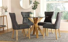 full size of round glass and oak dining table chairs top next with 4 slate kitchen